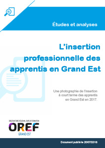 L'insertion professionnelle des apprentis en Grand Est - OREF Alsace