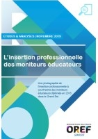 L'insertion professionnelle des moniteurs éducateurs